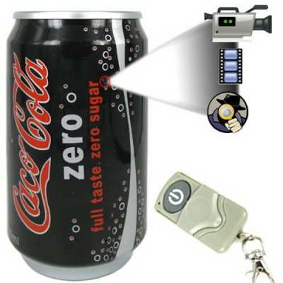 4GB Cola Can Beverage Spy Camera - Remote Control